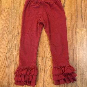 Persnickety red ruffle pants